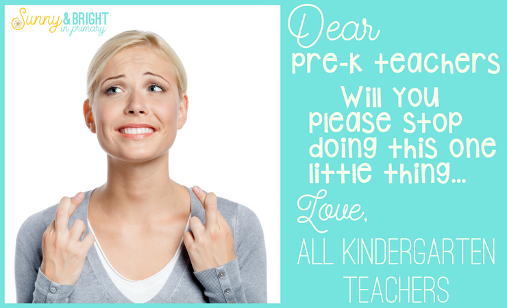 The One Thing Kindergarten Teachers Wish Pre-K Teachers Would Stop Doing…